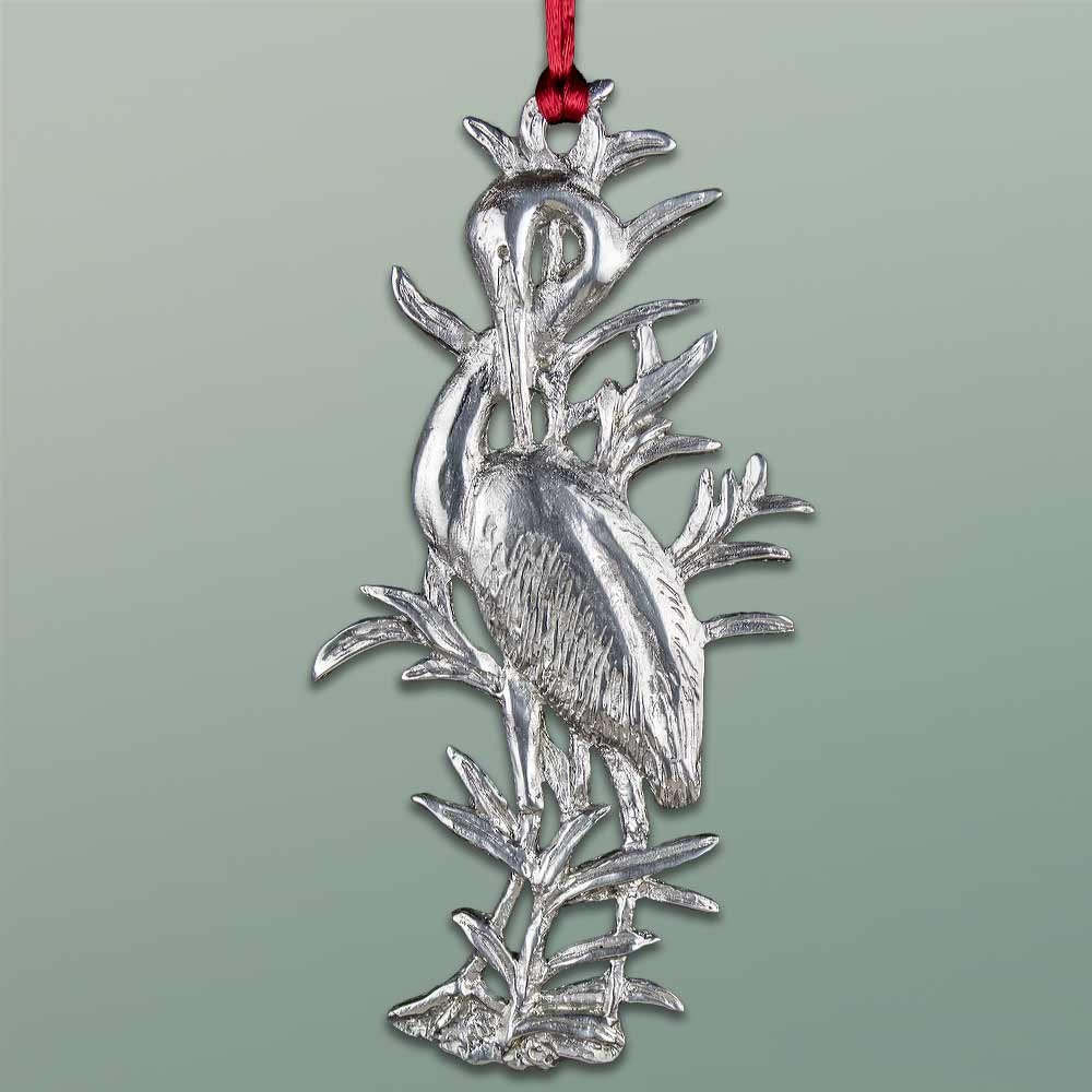 2016 Ornament by Charles H. Reinike III - Great Egret