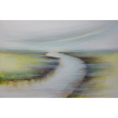 Marsh Path 24 X 36 by Gretchen R. R. Eppling