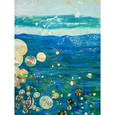Bubbling Oceans 40 X 30 by Donna Johnson