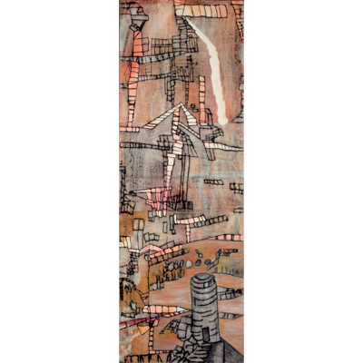 Tower Construction 36 X 12 by Donna Johnson