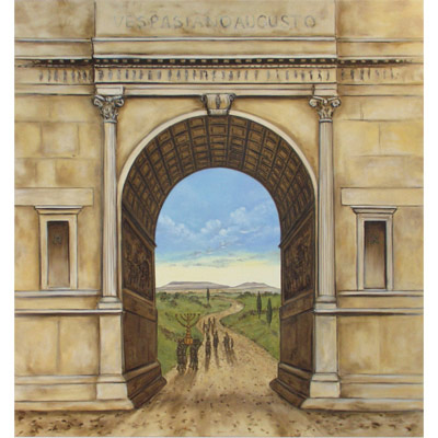 The Arch of Titus - Triumph of Emunah 70 X 66 by Charles H. Reinike III