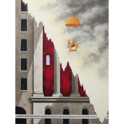 The Golden Parachute 40 X 30 by Charles H. Reinike III