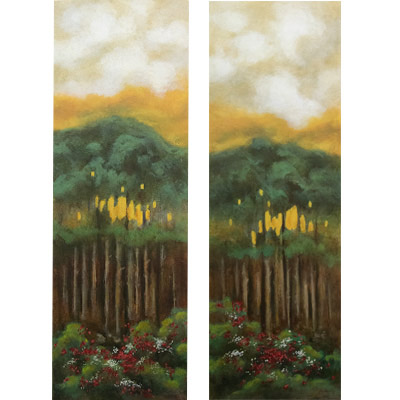 Strata I and Strata II 42 X 14 each by Charles H. Reinike III