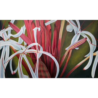 Lily Shower 35 X 60 by Charles H. Reinike III