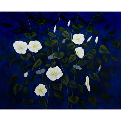 Sea Grapes on Blue 48 X 48 by Charles H. Reinike III