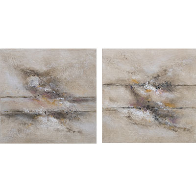 Tones 1 and Tones II 14 X 14 each by Charles H. Reinike III